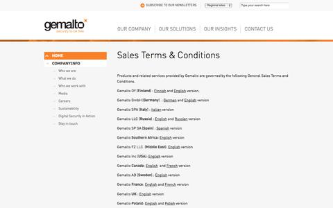Screenshot of Terms Page gemalto.com - General Terms & Conditions - Gemalto - captured Nov. 23, 2017