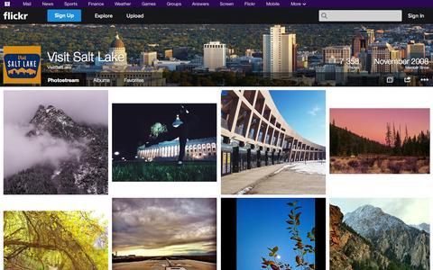 Screenshot of Flickr Page flickr.com - Flickr: VisitSaltLake's Photostream - captured Nov. 4, 2014