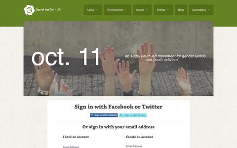 Screenshot of Login Page nationbuilder.com - Sign in - captured May 13, 2016