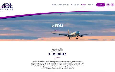 Screenshot of Press Page ablaviation.com - ABL Aviation - Aircraft Leasing - captured Nov. 6, 2018