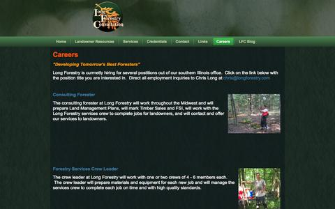 Screenshot of Jobs Page longforestry.com - Careers - captured Oct. 3, 2014