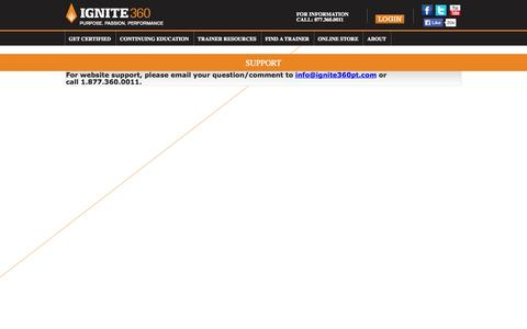 Screenshot of Support Page ignite360pt.com - Support - captured Oct. 1, 2014