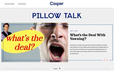 Screenshot of Blog caspersleep.com - Casper - captured Sept. 13, 2014