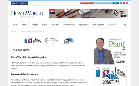 Screenshot of Products Page homeworldbusiness.com - Our Products | HomeWorld Business - captured Sept. 29, 2018