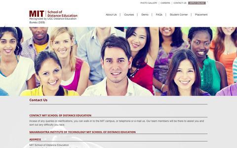 Screenshot of Contact Page mitsde.com - Contact Us - captured Nov. 18, 2016