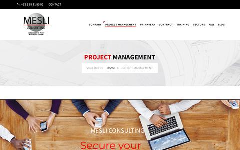Screenshot of Team Page mesli-consulting.com - PROJECT MANAGEMENT | MESLI CONSULTING - captured July 26, 2018
