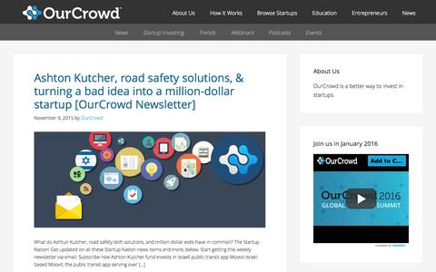 Screenshot of Blog ourcrowd.com - OurCrowd - A better way to invest in startups. - captured Nov. 10, 2015