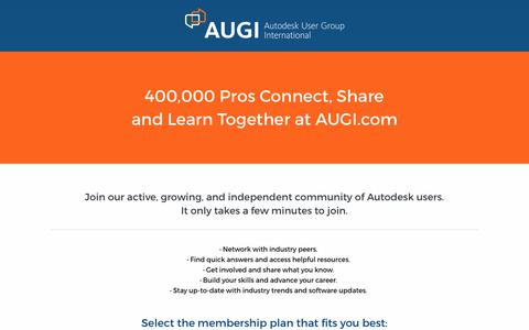 Screenshot of Signup Page augi.com - Join AUGI | AUGI - Autodesk User Group International - captured June 29, 2017