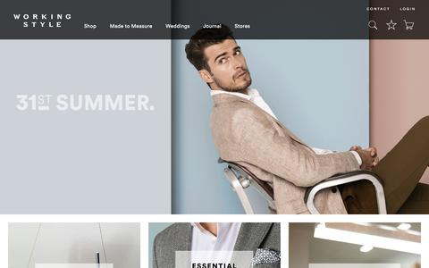 Screenshot of Home Page workingstyle.co.nz - Suits & Premium Menswear | Working Style New Zealand - captured Sept. 20, 2018