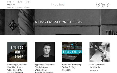 Screenshot of Press Page hypothesisgroup.com - News — Hypothesis Group - captured May 23, 2018
