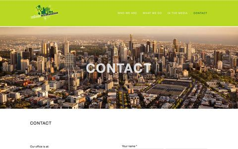 Screenshot of Contact Page urbanreforestation.com - CONTACT — Urban Reforestation - captured Sept. 30, 2014