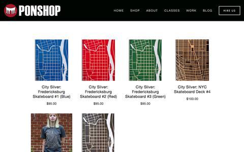 Screenshot of Maps & Directions Page ponshopstudio.com - Shop — Ponshop Studio and Gallery - captured July 9, 2017
