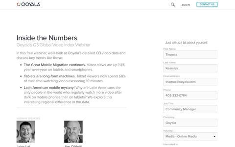 Screenshot of Landing Page ooyala.com - Global Video Index Q2 2013 - Free Webinar - captured June 22, 2016
