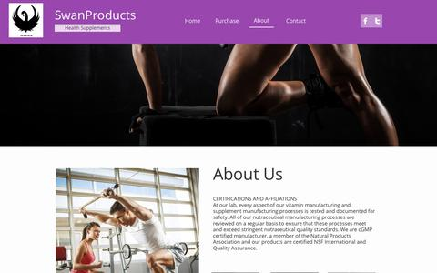 Screenshot of About Page swanproducts.com - Contact - captured Jan. 21, 2017