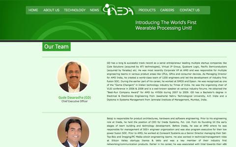 Screenshot of Team Page inedasystems.com - Ineda - captured Sept. 13, 2014