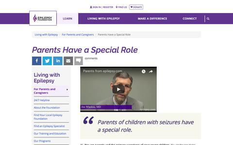 Parents Have a Special Role | Epilepsy Foundation