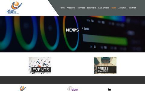 Screenshot of Press Page videoprogetti.it - News - Video Progetti - captured Oct. 25, 2017