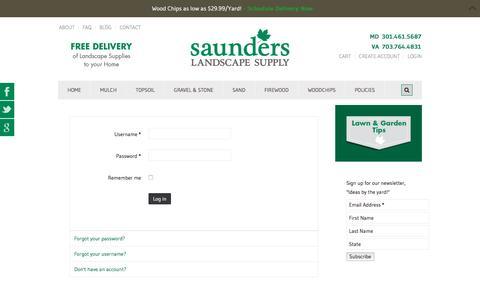 Screenshot of Login Page saundersls.com - LOGIN - captured Nov. 19, 2016