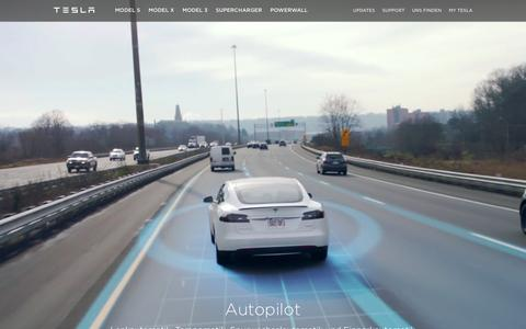 Screenshot of teslamotors.com - Tesla Motors Schweiz  | Premium Elektrofahrzeuge - captured April 7, 2016