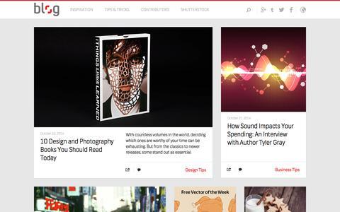 Screenshot of Blog shutterstock.com - The Shutterstock Blog - captured Oct. 23, 2014