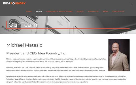 Screenshot of Team Page ideafoundry.org - Our Team - Idea Foundry - captured Sept. 12, 2018