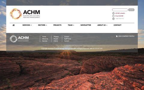 Screenshot of Services Page achm.com.au - ACHM - Australian Cultural Heritage Management - 1300 724 913 | Australian Cultural Heritage Management | Australian Cultural Heritage Management - captured Nov. 21, 2016