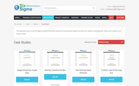 Screenshot of Case Studies Page isixsigma.com - Case Studies Archives - iSixSigma Marketplace - captured Oct. 29, 2014
