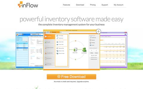 Screenshot of Home Page inflowinventory.com - Free Inventory Management Software - inFlow Inventory - captured Jan. 28, 2016