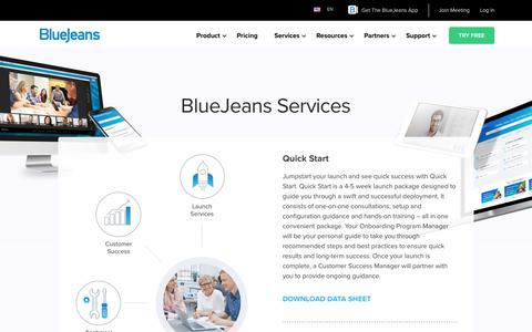 Service Descriptions | BlueJeans - Business Video Communications
