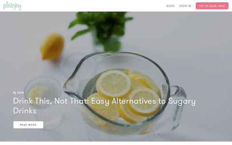 Screenshot of Blog platejoy.com - The PlateJoy Blog - captured April 9, 2019