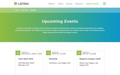 Listrak Events | Listrak