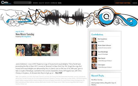 Screenshot of Blog qello.com - Qello Blog|Inside the Q| Senior Editor Ben Fong Torres| Music Insider Reviews, Interviews, News, and Stories - captured July 18, 2014