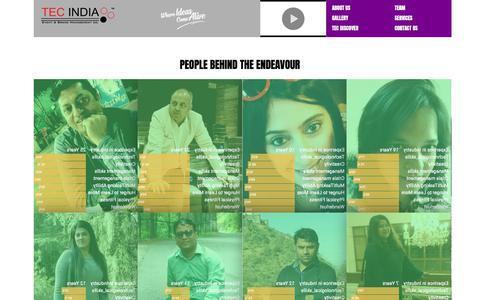 Screenshot of Team Page tecindia.biz - TEC INDIA ENTERTAINMENT PVT. LTD. - captured Nov. 15, 2018