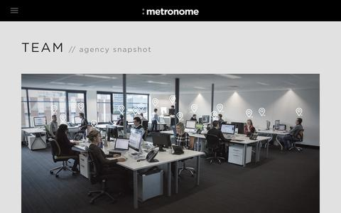Screenshot of Team Page metronome.com.au - Agency Team : metronome - captured Oct. 7, 2014