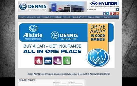 Screenshot of About Page dennisdublin.com - Dennis Insurance Agency - captured Nov. 3, 2014
