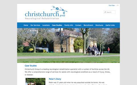 Screenshot of Case Studies Page christchurchgroup.co.uk - Case Studies | Christchurch GroupChristchurch Group - captured Sept. 29, 2014