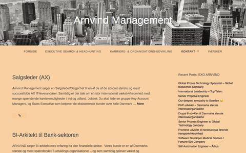 Screenshot of Blog arnvind.com - Blog – Arnvind Management - captured May 1, 2017