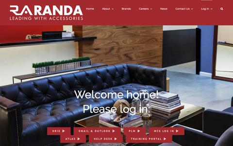 Screenshot of Login Page randa.net - Log in – Randa Accessories - captured Nov. 27, 2018