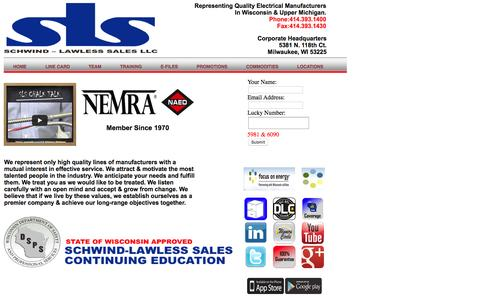 Screenshot of Home Page schwindlawless.com - SCHWIND-LAWLESS SALES, LLC - captured Feb. 4, 2016