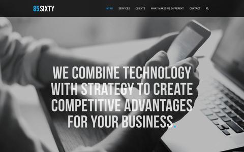 Screenshot of Home Page 85sixty.com - 85SIXTY – Enterprise Digital Expertise, Digital Media, Creative Agency - captured Aug. 17, 2016