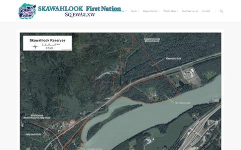 Screenshot of Maps & Directions Page skawahlook.com - Map |  Skawahlook First Nation - captured Oct. 26, 2014