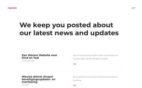 Screenshot of Press Page nascom.be - Heb je ons laatste nieuws al gehoord ? | Nascom - captured Sept. 20, 2018