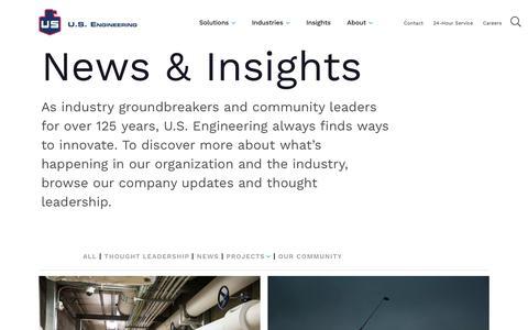 Screenshot of Press Page usengineering.com - News | U.S. Engineering - captured July 3, 2019