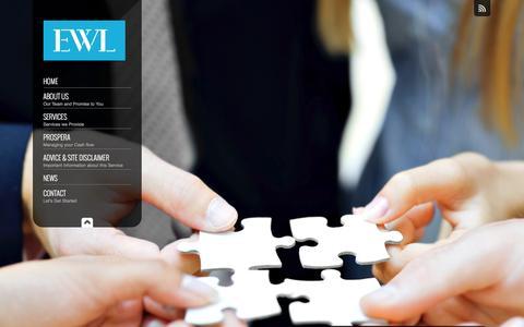Screenshot of Home Page ewl.com.au - Financial Planner Sydney   Financial Planning - captured Jan. 24, 2016
