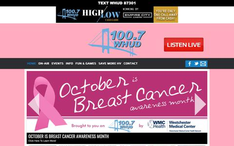 Screenshot of Home Page Terms Page whud.com - 100.7 WHUD | whud-fm - captured Oct. 30, 2018