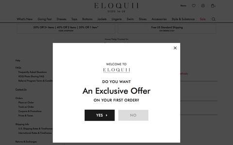 Screenshot of Contact Page eloquii.com - Sites-eloquii-Site - captured Aug. 16, 2018