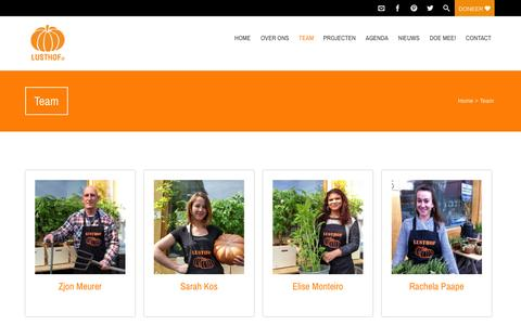 Screenshot of Team Page lusthofxl.nl - Team - captured Sept. 26, 2014