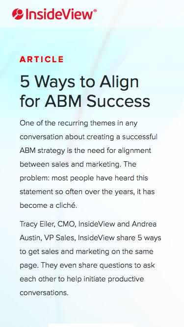 5 Ways to Align for ABM Success | Registration