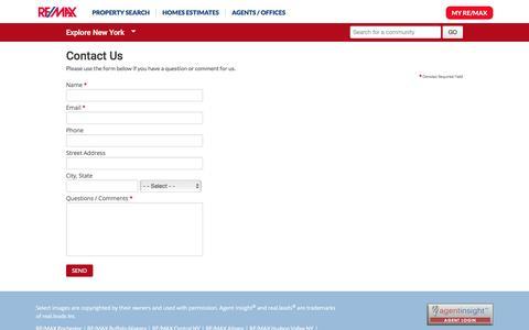 Screenshot of Contact Page remax.com - Contact Us - RE/MAX - captured May 6, 2017