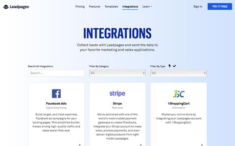 Leadpages® Integrations - Send Leads to the Tools You Use